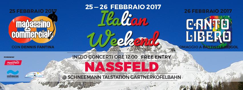 """Italian weekend"" a Passo Pramollo/Nassfeld: 25/26 febbraio 2017"