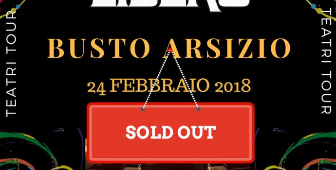 Canto Libero: data di Busto Arsizio sold out in prevendita!