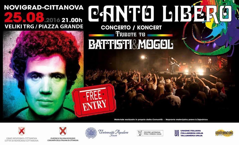 """Canto Libero"" Summer Tour: 7^ data Cittanova (Croazia)"