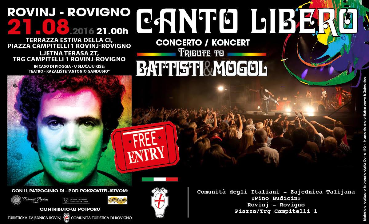 """Canto Libero"" Summer Tour: 6^ data Rovigno (Croazia)"