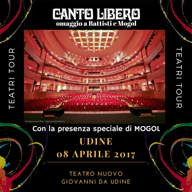 """""""Canto Libero"""" Teatri Tour 2016/2017 – annuncio data a Udine con Mogol"""