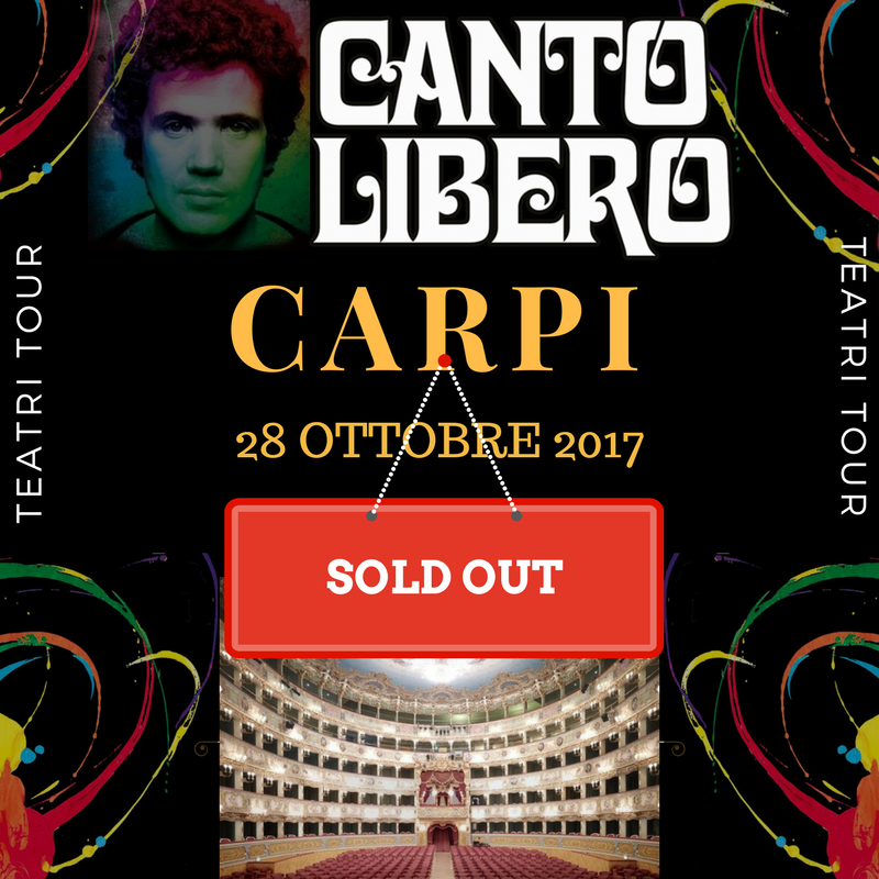 Canto Libero: sold out anche a Carpi!