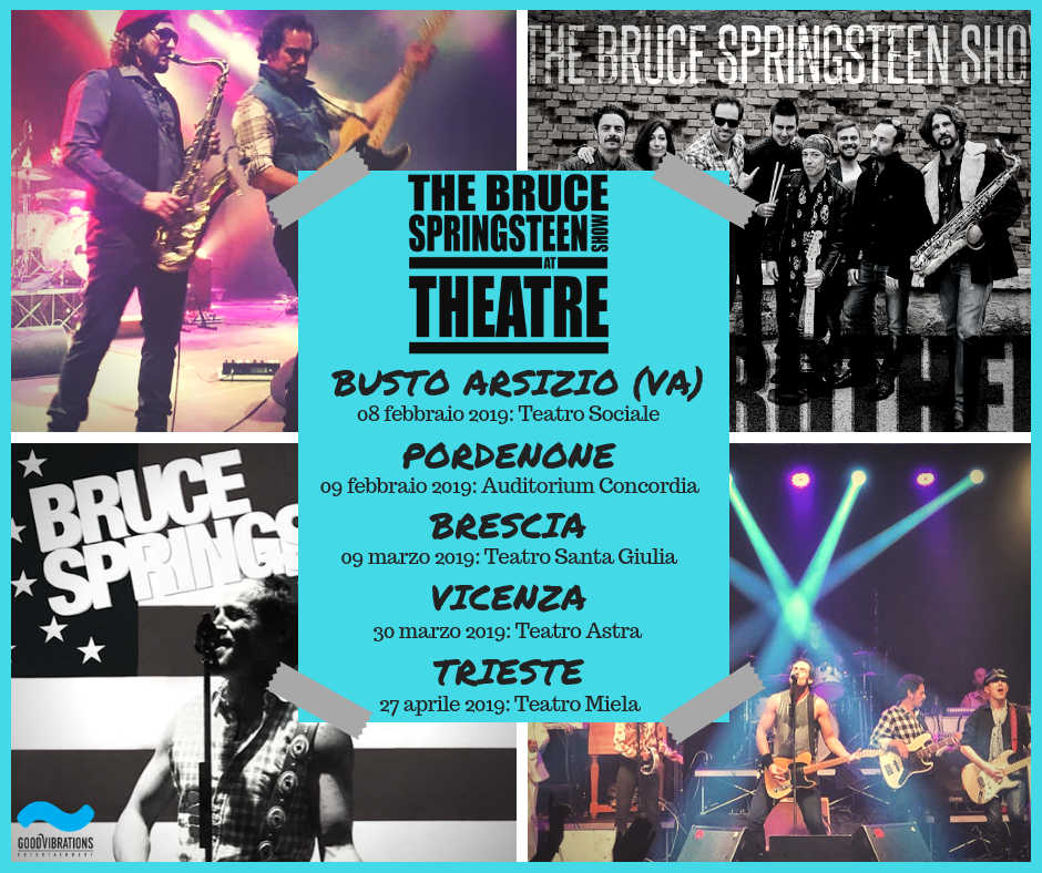 "Annuncio date ""Theatre Tour 2019"" Blood Brothers – The Bruce Springsteen Show"