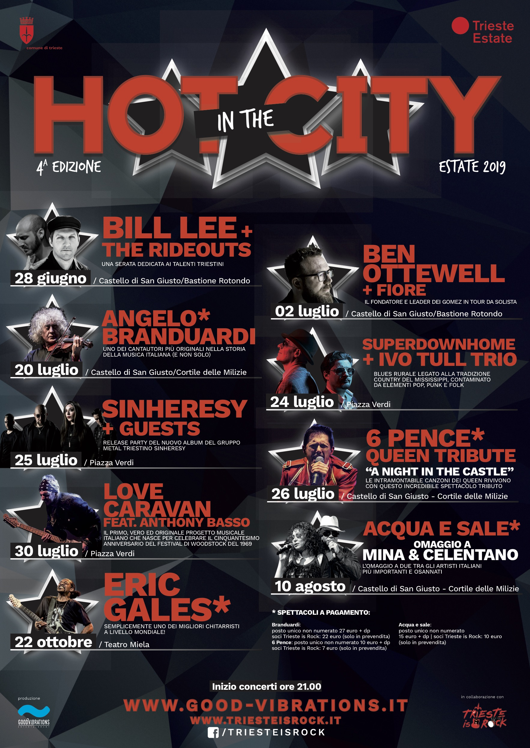 HOT IN THE CITY – rassegna estiva 2019