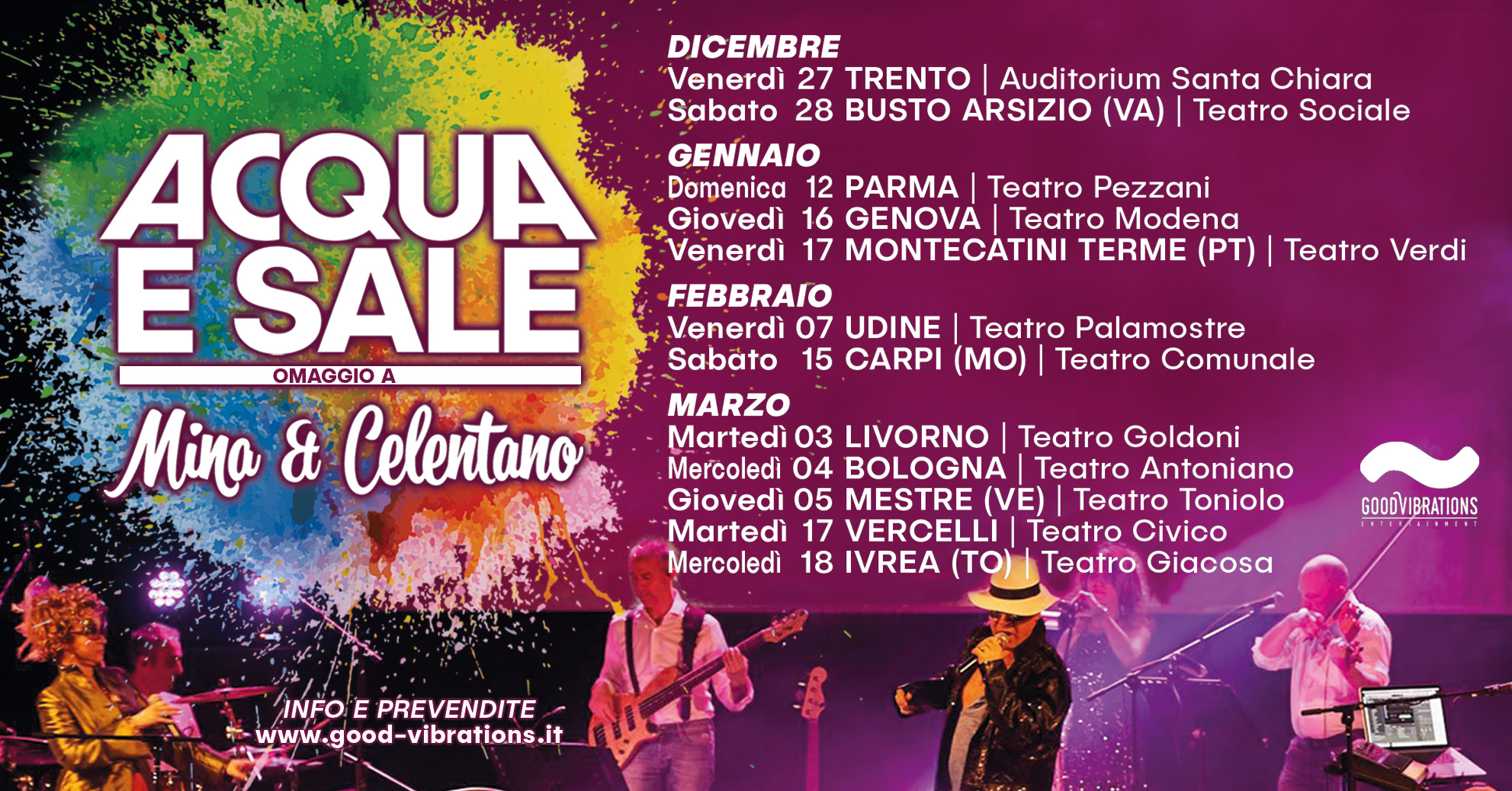 """Annuncio date Acqua e Sale """"Teatri Tour 2019/2020"""""""