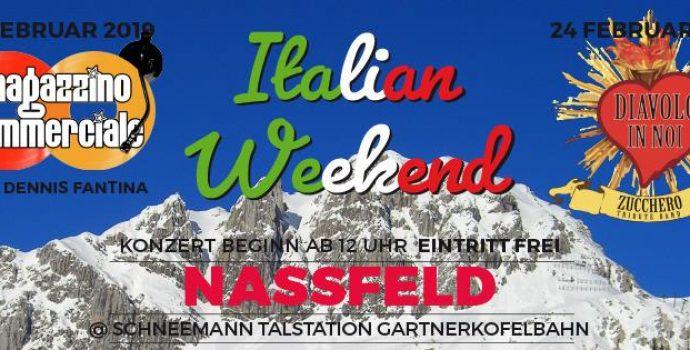 """""""Italian weekend"""" 3^ edizione a Passo Pramollo/Nassfeld: 23/24 febbraio 2019"""