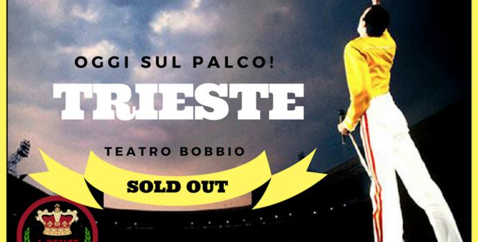 "Sold out i ""6 Pence – Queen Wembley Tribute"" a Trieste"
