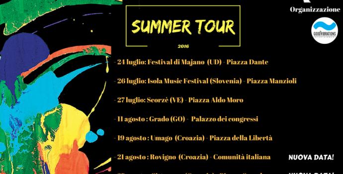 """Nuove date aggiunte al """"Summer Tour"""" 2016 di Canto Libero"""