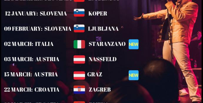"""Annuncio """"No Borders – Winter Tour 2018/2019"""" di 6 Pence – Queen Tribute"""