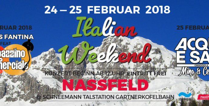 """Italian weekend"" a Passo Pramollo/Nassfeld: 24/25 febbraio 2018"