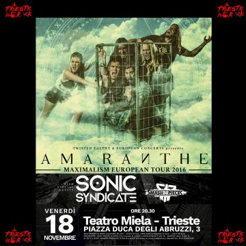 Amaranthe – Trieste 18 novembre 2016